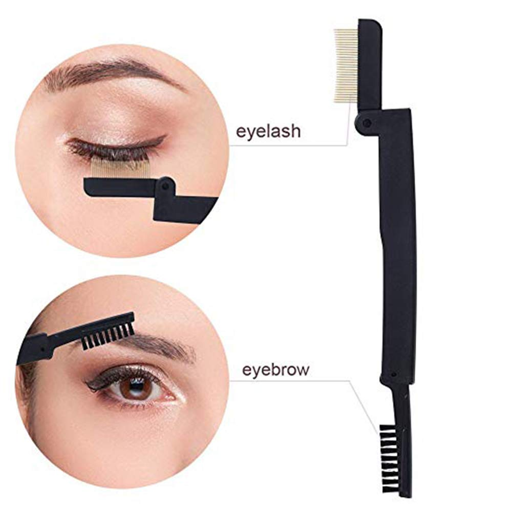 dab56e8c9d0 Amazon.com : Eyelash Separator Eyebrow Scissors Set-Double Head Folding  Eyelash Comb, Stainless Brow Shaping Scissors and Brush, Eyelash Comb  Curlers Makeup ...