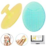 Silicone Face Scrubbers Exfoliator Brush-Facial Cleansing Brush...