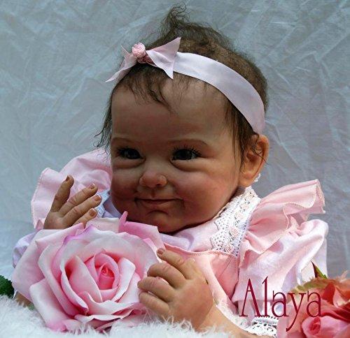 22 pouces 55cm Réaliste Reborn Bébé poupée Nouveau née Silicone vinylique souple poupée vivant Sourire bébé fille