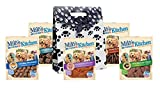 Milo's Kitchen Dog Treats, Variety Pack of 5, (Duck Jerky, Chicken Meatballs, Grilled Burger Bites With Sweet Potato and Bacon, Beef Sausage Slices with Rice, Steak Grillers), Dog Treat Gift Bag Set