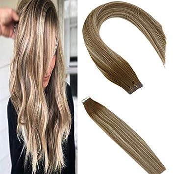 Amazon.com: Sunny - Extensiones de cabello humano con cinta ...