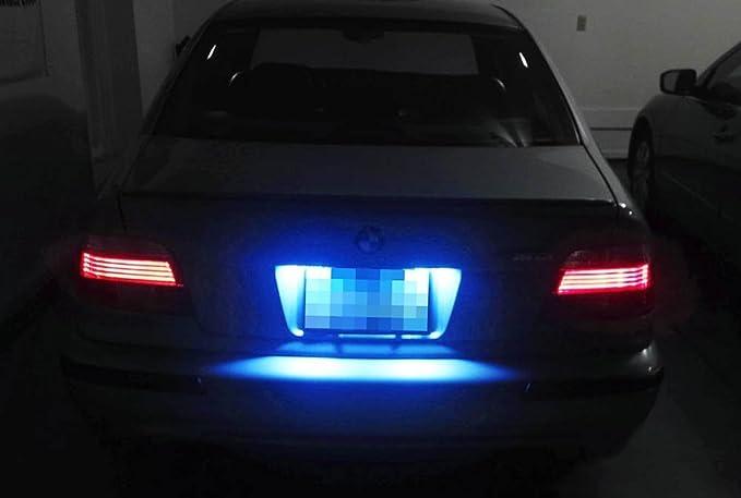 ijdmtoy 3-SMD libre de errores 6418 C5 W Bombillas LED para coches europeos matrícula Luces, Ultra azul: Amazon.es: Coche y moto