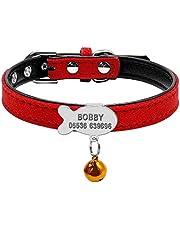 Collar acolchado personalizado Berry para mascotas, etiqueta de identificación para perros pequeños, gatos pequeños, S