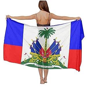 Silky Chiffon Haitian Flag Light Scarf
