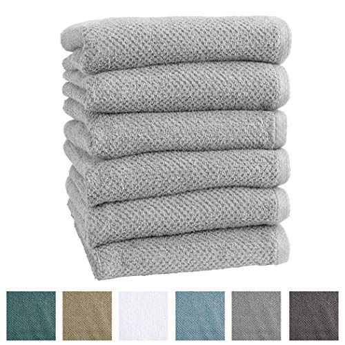 6-Pack 100% Cotton, Ultra-Absorbent Popcorn Hand Towels. 6 E