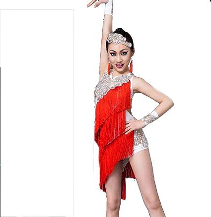 SMACO Vestido de Baile Latino para niños Vestido de Baile ...