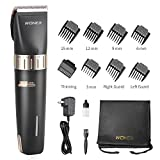 WONER Hair Clippers for Men Cordless/Corded Hair Trimmers with 2000mAh Lithium Ion, Titanium Ceramic Blade, Hair Cutting Kit with 12 Pieces