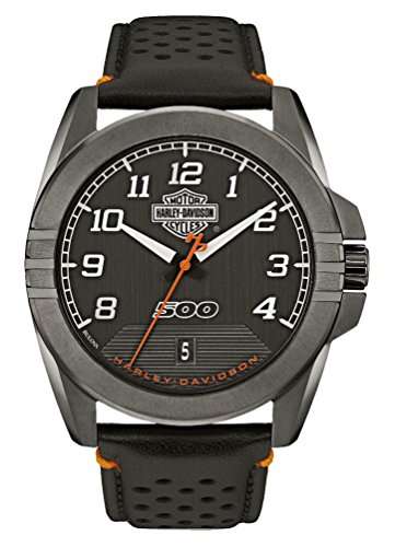 Harley-Davidson Men's B&S Rugged Stainless Steel Watch, Gunmetal Finish 78B143