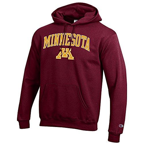 Elite Fan Shop Minnesota Golden Gophers Hooded Sweatshirt Varsity Maroon - L