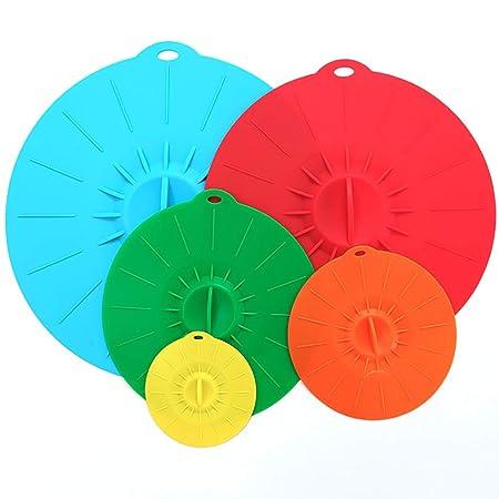 Tapas de succión de silicona para microondas, tazas, ollas y ...