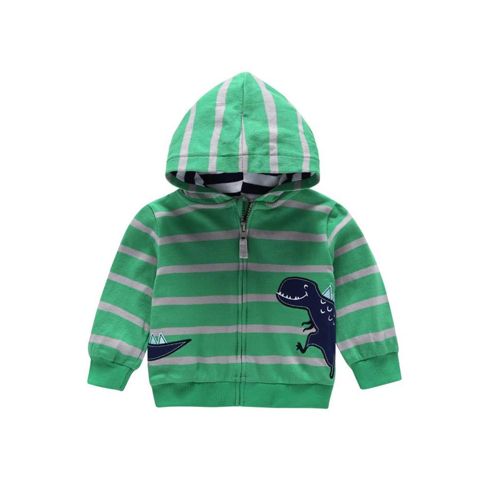 EISHOW Toddler Baby Boys Girls Long Sleeve Cartoon Dinosaur Hoodies Kids Infant Cute Warm Sweatshirt Zip-up Jacket Coat