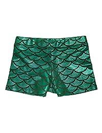 HDE - Pantalones Cortos de Gimnasia para niña