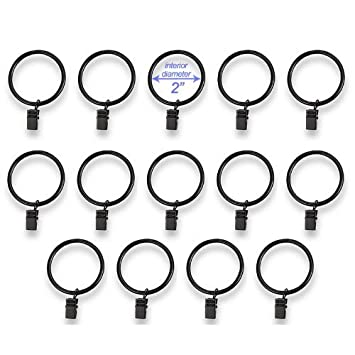 Amazon.com: Set of 14 Decorative Drapery Curtain Clip Rings, 2 ...