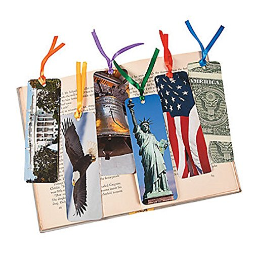 48 ~ American Symbols Laminated Bookmarks ~ approx. 2