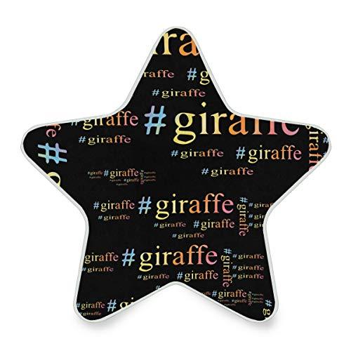 Giraffe Hashtag Funny Letter Word Plug-in LED Night Light with Dusk-to-Dawn Sensor Star Shape Lamp]()
