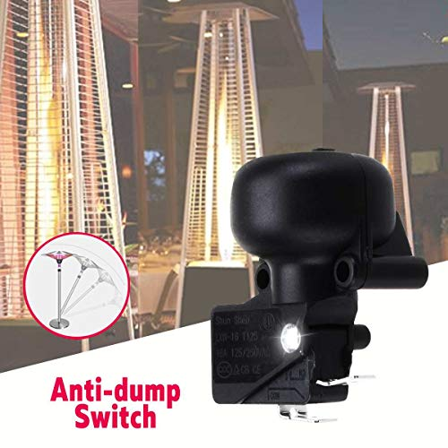 Universal AC 125-250V Anti-dump Switch for Outdoor Garden Space Patio Heater Black