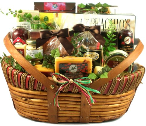 Gift Basket Village - Dad's Favorite, Cheese And Sausage Gift Basket for Dad, 10 pound (Large) by Gift Basket Village