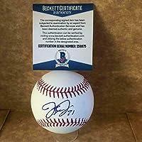 $86 » Jacoby Jones Detroit Tigers Signed Autographed M.l. Baseball Beckett S58975 - NFL Autographed Miscellaneous Items