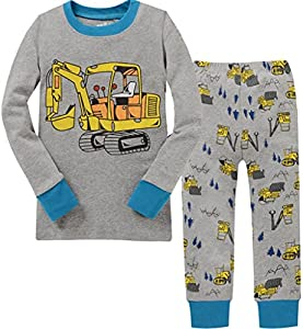 Baby Clothes Boy Truck Cotton children pajamas Size 2Y-7Y