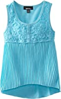 Amy Byer Big Girls' Pleated Knit Top