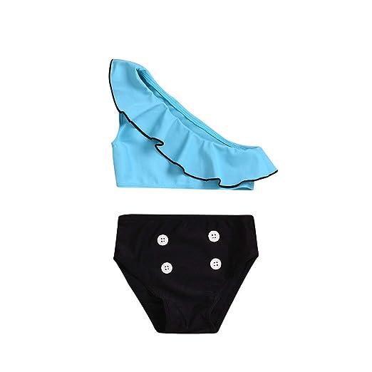 Mealeaf - Traje de baño para niñas de Verano con Volantes de ...
