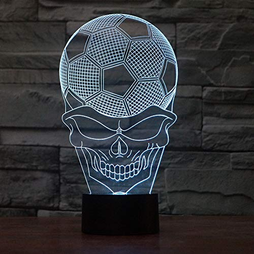 Halloween Gift Usb Led Nightlight Novelty Kids Room Creative Led 3D Lamp 7 Color Change Christmas Gift Children'S Toys