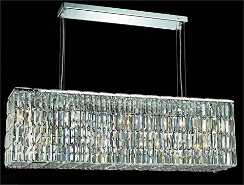 (Chantal Chrome Contemporary 8-Light Hanging Chandelier Heirloom Handcut Crystal in Crystal (Clear)-6903D44C-RC--9