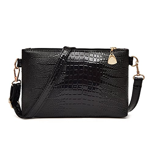 Purse Small Pattern ZOMUSA Women Crocodile Shoulder Black Tote Ladies Bag Fashion Clearance Handbag qXp8PP