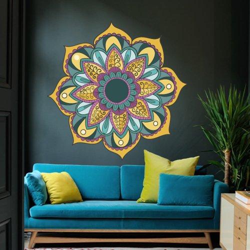 Full Color Wall Decal Mandala Model Map Ornament Star Buddha Yoga flower mcol36