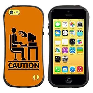 LASTONE PHONE CASE / Suave Silicona Caso Carcasa de Caucho Funda para Apple Iphone 5C / Funny Caution Zombie Hand
