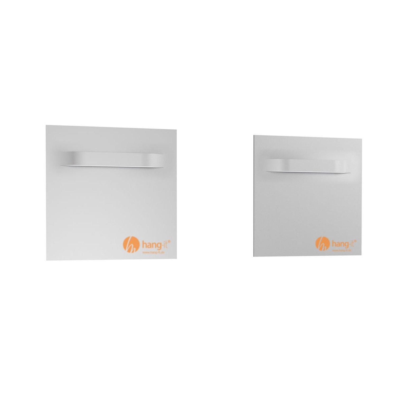 Amazon.de: Aufhänger für Aludibondverbundplatten, Spiegel 70 x 70 mm