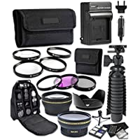 Canon EOS Rebel T6i, T6s Digital Cameras 13pc Accessory Bundle AC/DC Worldwide Charger, Camera Backpack and More