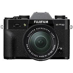 Fujifilm X-T10 Fotocamera Digitale con Obiettivo XC16-50 MM F3.5-5.6 OIS II, Nero