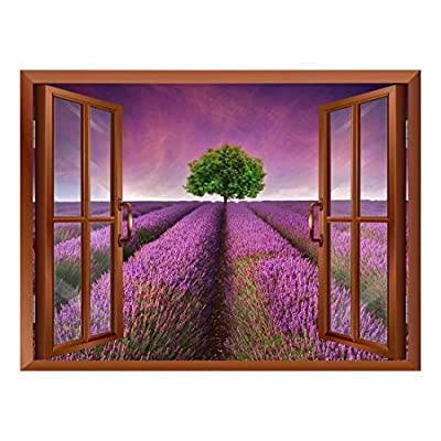 Tree on a Purple Filed Removable Wall Sticker Wall Mural 24