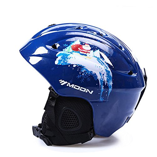 Intermediate All Mountain Skis - SUNVP Snowboards Ski Helmet Warm Windproof Integrated Adult Winter Outdoor Snow Sports Helmet(Blue, L)