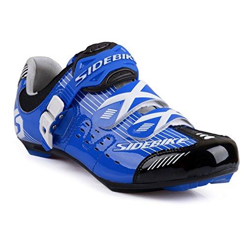 Männer und Frauen Breathable Casual Radfahren Schuhe mit Nylon Tpu Sohlen für Rennrad Schwarz Blau