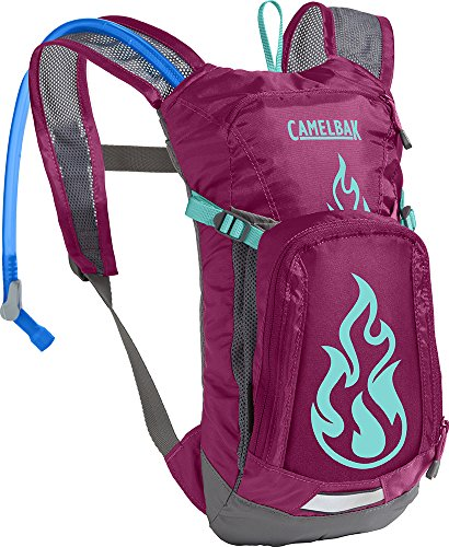 CamelBak Kids Mini M.U.L.E. Crux Reservoir Hydration Pack, Baton Rouge/Flames, 1.5 L/50 oz