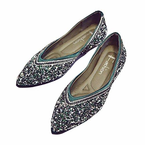 Mujer La Green Solo Y Slacker YUCH Zapatos Cómodos Zapatos EqSww8O5