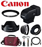Deluxe Accesory Kit For Canon G1X Mark II w/ Canon EVF-DC1 Electronic Viewfinder, Canon LH-DC80 Lens Hood, Canon FA-DC58C 58mm Filter Adapter , Wide Angle & Telephoto