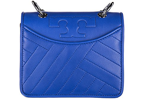 Tienda De Venta Envío Libre Extremadamente Tory Burch borsa donna a spalla shopping in pelle nuova alexa mini blu ZjYBoIW
