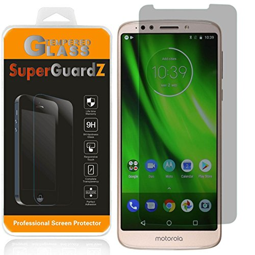 [2-Pack] for Motorola Moto G6 Play/Moto G6 Forge Tempered Glass Screen Protector [Privacy Anti-Spy], SuperGuardZ, 9H Anti-Scratch, 2.5D Round Edge, Anti-Bubble [Lifetime Replacements]