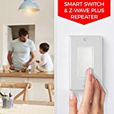 Z-Wave Switch (On/Off) + Built-In Z-Wave Repeater (zwave plus)   In-Wall Light Switch (Paddle) works with Samsung SmartThings & Wink Hub   Easy 3 & 4-Way Solution (No Add-On Needed)   Inovelli