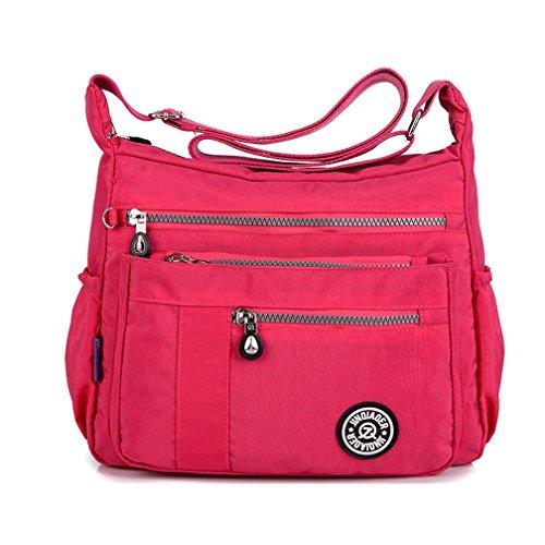 Ligero Casual Con Bolso Bolsa De Bolsillos Cremallera Bag Mujer Nailon Bandolera Tianhengyi Hombro Messenger wxa85Pq8t