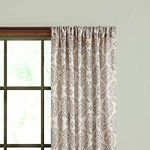 Kenney Single Curtain Rod, 48 to 86-Inch, Espresso