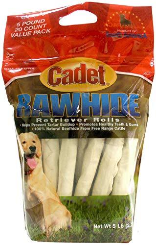 Cadet Rawhide Retriever Rolls, 10in 40ct (2 x 20ct)