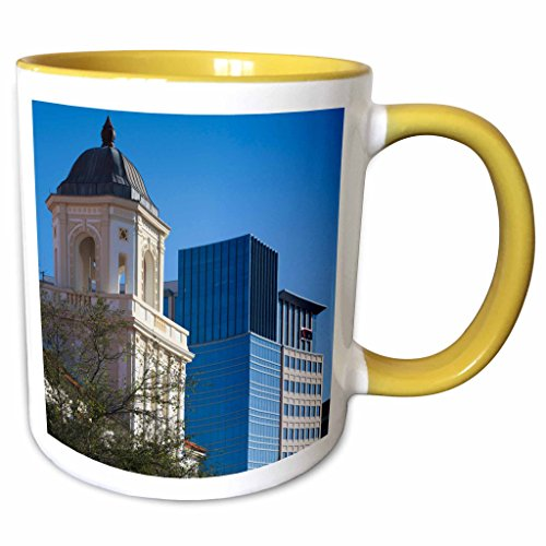 3dRose Danita Delimont - Buildings - USA, Florida, West Palm Beach, City Place Mall, Harriet Himmel Theater - 11oz Two-Tone Yellow Mug - America Pics Of Mall Of The
