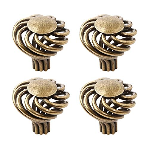10 Pcs Antique Bronze Round Ball Furniture Birdcage Pulls Knobs Children Bedroom Cabinet Drawer Handles Antique Bronze Birdcage Knobs