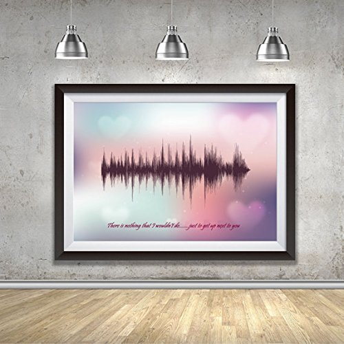 There Is Nothing Just To Get Up Next To You-Soundwave Art Print – DIGITAL Print- Your Favorite Song/Lyrics, First Anniversary Gift, Couple Gift, Wedding Gift Husband Wife, Partner Gift (Cristmas Songs For Kids)