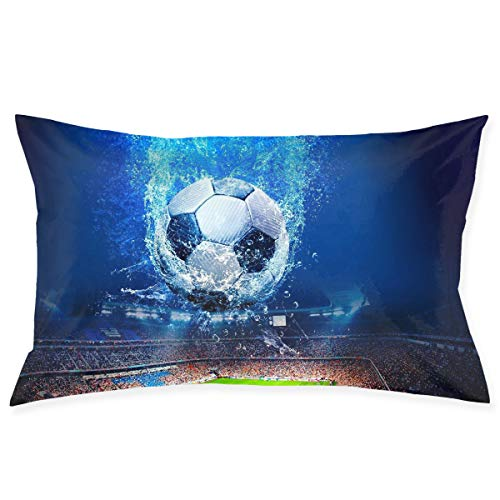Kidhome 2030 Inch Throw Pillow Cases Football Stadium Creative Decorative Pillowcase Cushion Cover for Sofa ()