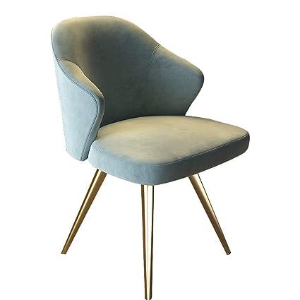 Beau LRZS Furniture Light And Luxurious Post Modern Dining Chair Nordic Velvet Chair  Designer Chair